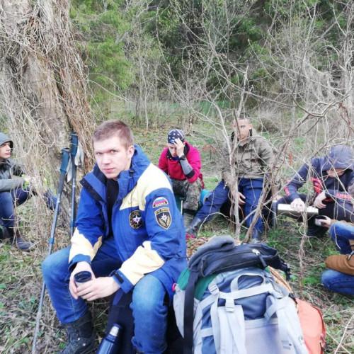 На майские праздники курсанты колледжа выехали в поход под Волокаламск