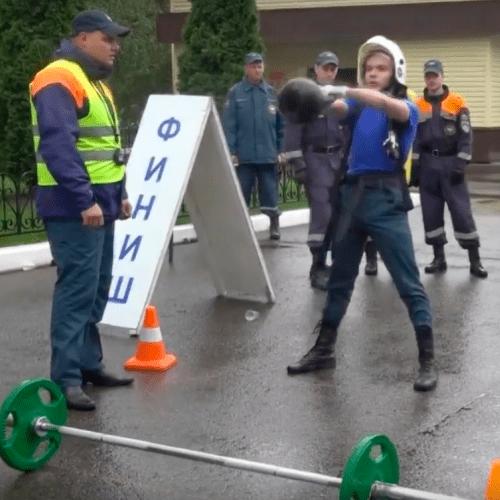Соревнования по пожарно - спасательному многоборью (кроссфит)
