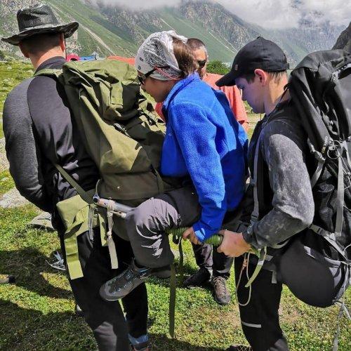 """Наши курсанты в альплагере """"Безенги"""""""